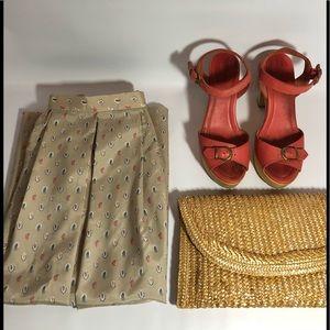 Vintage Midi Paisley Skirt